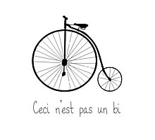 Dyke in bike Photographic Print
