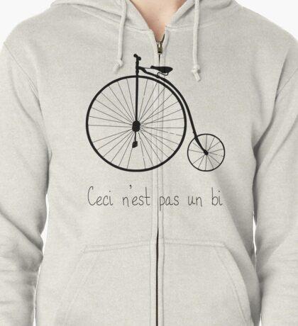 Dyke in bike Zipped Hoodie