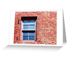 Red Brick Window Greeting Card