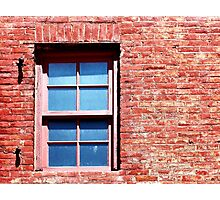 Red Brick Window Photographic Print
