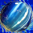 Big Blue Spinning Ball by Ginny Schmidt