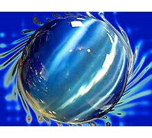 Big Blue Spinning Ball Photographic Print