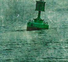 Green Buoy - Barnegat Inlet - New Jersey - USA Sticker