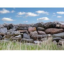 old stone wall in county Kerry Ireland Photographic Print