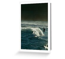 Late Afternoon Bodysurf Greeting Card