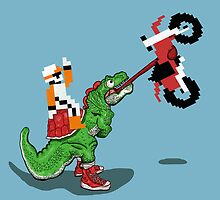 Excitebike Rider meets Yoshi  by Mike McLeod