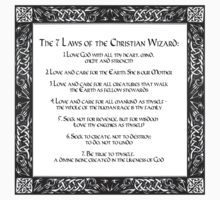 The Seven Laws of the Christian Wizard Kids Tee