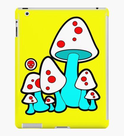 Aqua Mushrooms  iPad Case/Skin