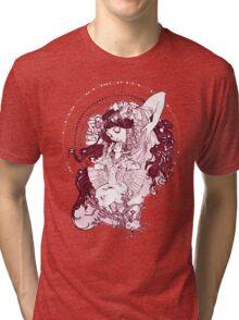 Vintage Mucha Art Tri-blend T-Shirt