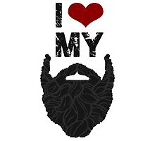 I Love My Beard Photographic Print