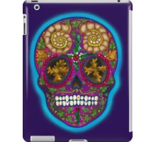 Winter Skull, Holly King, Pink with Turquoise glow iPad Case/Skin