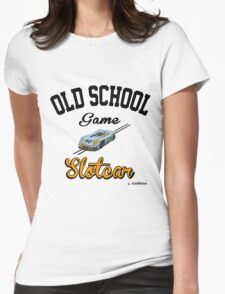 Oldschool game Slotcar Womens Fitted T-Shirt
