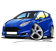 Ford Fiesta (Mk7) ST Blue Photographic Print