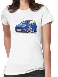 Ford Fiesta (Mk7) ST Blue Womens Fitted T-Shirt