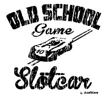 Oldschool game Slotcar black Photographic Print