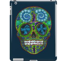 Winter skull, holly king- yellow iPad Case/Skin