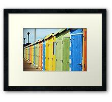 Seaside Beach Huts Framed Print