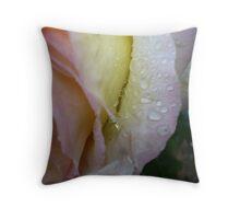 rain on petals Throw Pillow