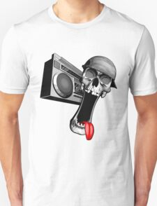 Skull With Boombox T-Shirt