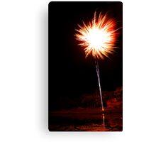 Carol's Fireworks @ Mount Barker 2 Canvas Print