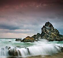 Rocky Seascape by Annette Blattman