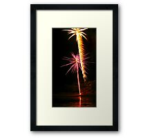 Carol's Fireworks @ Mount Barker 3 Framed Print