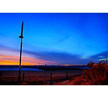 Walking the dog tonight along St Kilda beach Photographic Print