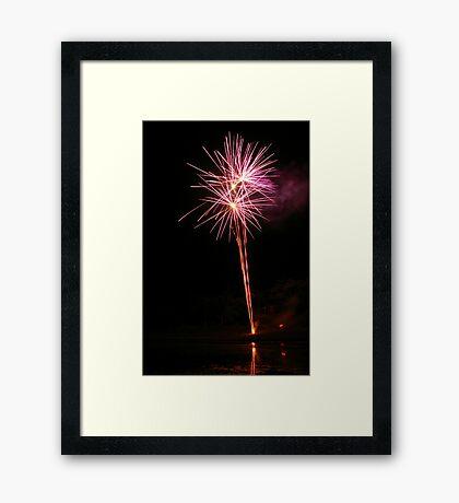 Carol's Fireworks @ Mount Barker 5 Framed Print