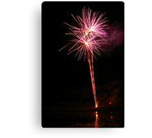 Carol's Fireworks @ Mount Barker 5 Canvas Print
