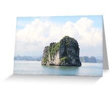 Rock Floats on Water - Ha Long Bay, Vietnam. Greeting Card