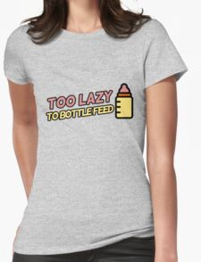 Breastfeeding humor Womens Fitted T-Shirt
