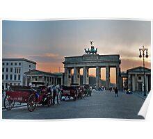 Brandemburg Gate Sunset Poster