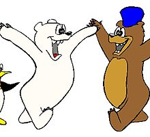 Bears And Penguin by kwg2200