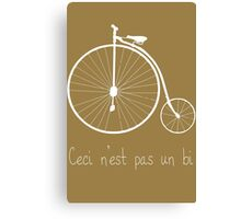 Dyke in white bike Canvas Print