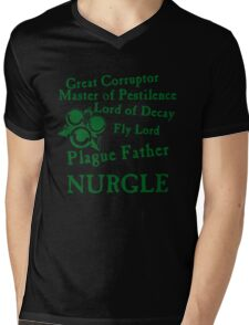 Nurgle, the Plague Father Green Mens V-Neck T-Shirt