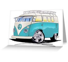 VW Splitty (Custom Blue) Camper Van Greeting Card