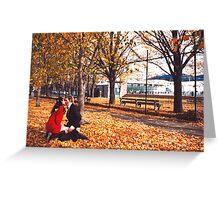 Autumn Kiss Greeting Card