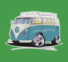 VW Splitty (Custom Blue) Camper Van Kids Clothes