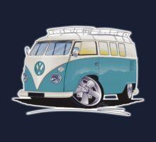 VW Splitty (Custom Blue) Camper Van Kids Tee