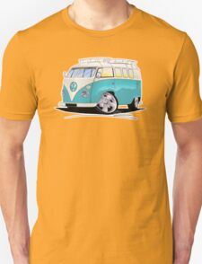VW Splitty (Custom Blue) Camper Van T-Shirt