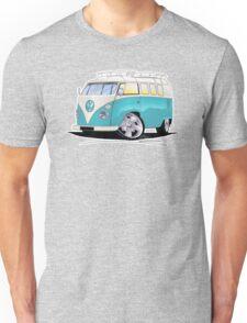 VW Splitty (Custom Blue) Camper Van Unisex T-Shirt