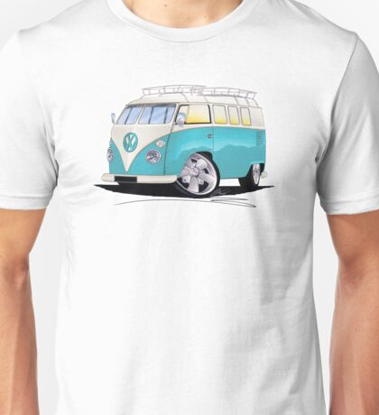 VW Splitty (Custom Blue) Camper Van Unisex T-Shirt