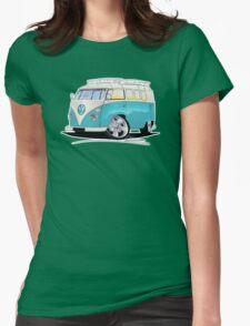 VW Splitty (Custom Blue) Camper Van Womens Fitted T-Shirt