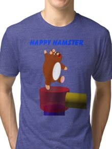 Happy Hamster Tri-blend T-Shirt