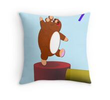 Happy Hamster's Birthday Throw Pillow