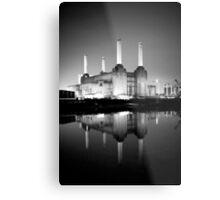 Battersea power station mono Metal Print