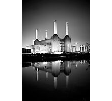Battersea power station mono Photographic Print
