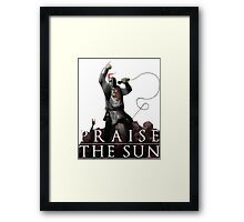 Knight Solaire of Astora - Praise The Sun! Framed Print