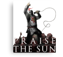 Knight Solaire of Astora - Praise The Sun! Canvas Print