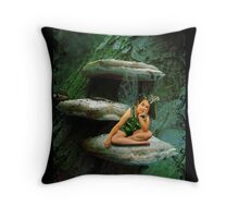 Bored Little Fairy Throw Pillow